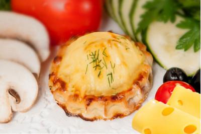 Перепечки с картофелем и сыром 8 шт.