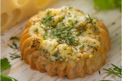 Перепечки с сыром и зеленью