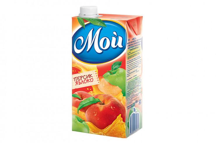 Сок «Мой» Персик-яблоко, 0,95 л