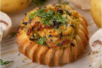 Перепечки с картофелем и грибами